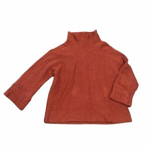 Soft Surroundings Rust Paramount Pullover Sweater